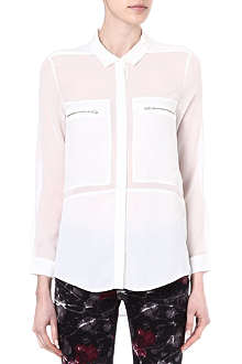 THE KOOPLES SPORT Semi-sheer zip-pocket shirt