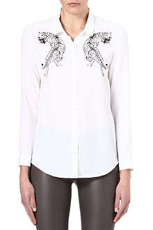 THE KOOPLES SPORT Tiger print silk shirt