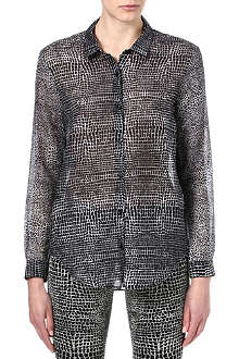 THE KOOPLES Crocodile-print boyfriend shirt