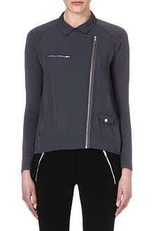 THE KOOPLES SPORT Biker-style crepe and jersey shirt