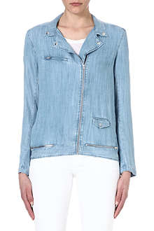 THE KOOPLES Chambray biker shirt