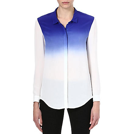 THE KOOPLES SPORT Tie-dye silk shirt (Electric blue - ecru