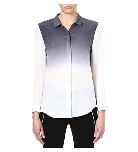THE KOOPLES SPORT Tie-dye silk shirt (Grey - ecru