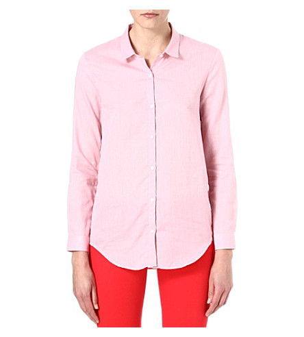 THE KOOPLES Herringbone pattern cotton shirt (Pink