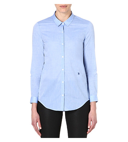 THE KOOPLES Long-sleeved cotton shirt (Blue