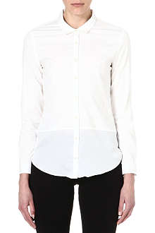 THE KOOPLES Dual-fabric boyfriend shirt