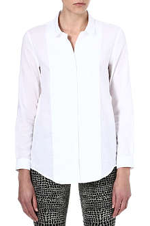 THE KOOPLES Panelled embroidered-initials shirt