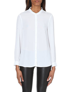 THE KOOPLES Collarless crepe shirt