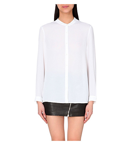 THE KOOPLES Crepe collarless shirt (White