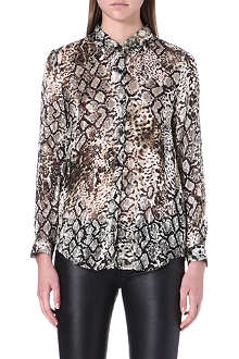 THE KOOPLES Snake print silk shirt