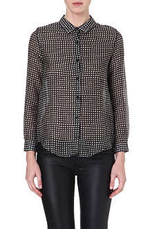 THE KOOPLES Houndstooth-print semi-sheer shirt