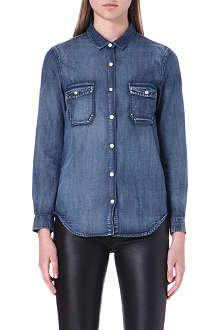 THE KOOPLES Cotton-patine denim shirt