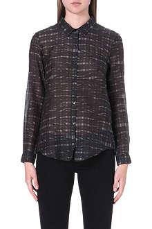 THE KOOPLES Checked chiffon shirt
