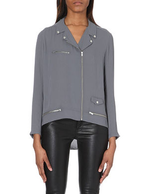 THE KOOPLES Dull matt crepe biker style shirt