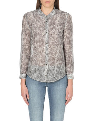 THE KOOPLES Leopard-print cotton and silk-blend shirt