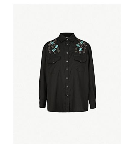 THE KOOPLES 花卉刺绣梭织衬衫 (Bla01