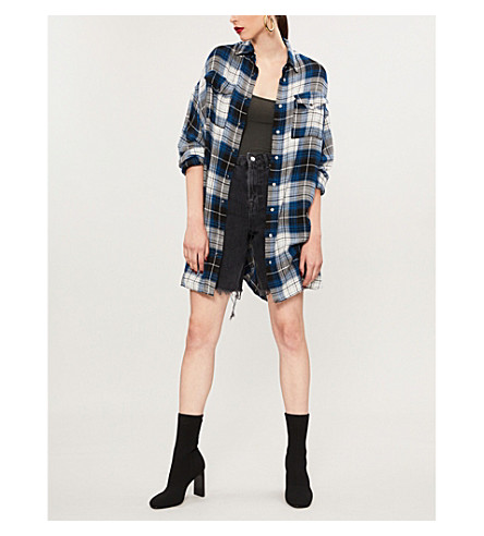 THE KOOPLES Checked flannel shirt (Blu01