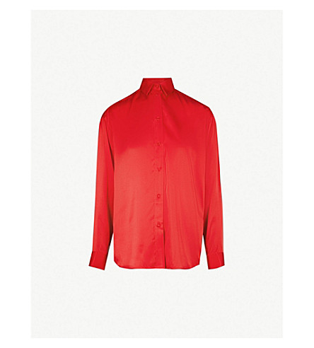 THE KOOPLES Envie 串珠真丝缎质衬衫 (Red01
