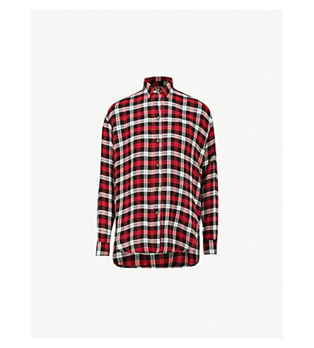 THE KOOPLES Checked woven shirt (Bla26