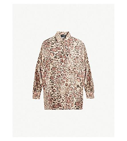 THE KOOPLES 豹纹真丝雪纺衬衫 (Leo01