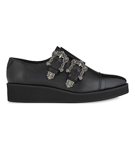 THE KOOPLES Angie leather double-monk shoes (Bla01