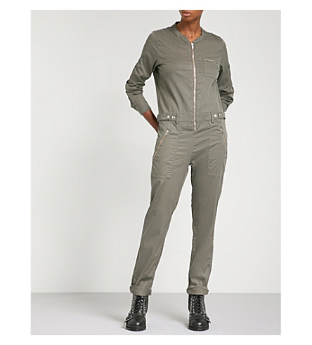 THE KOOPLES Military zip-up jumpsuit (Kak01