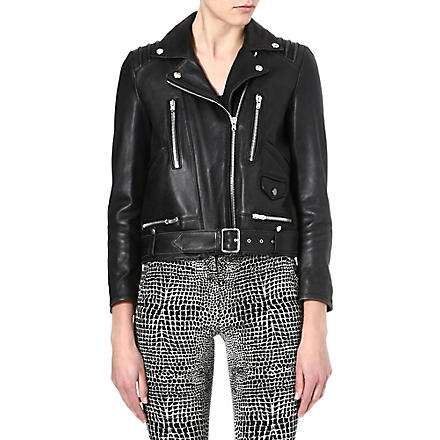 THE KOOPLES Leather biker jacket (Black