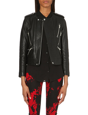 THE KOOPLES Collarless leather jacket