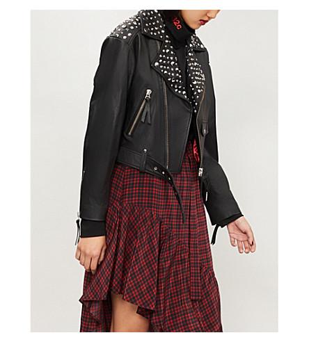 THE KOOPLES Stud-embellishment leather jacket (Bla01