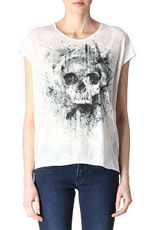 THE KOOPLES Skull burn-out t-shirt