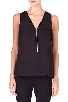 THE KOOPLES SPORT Zip-up silk-front top