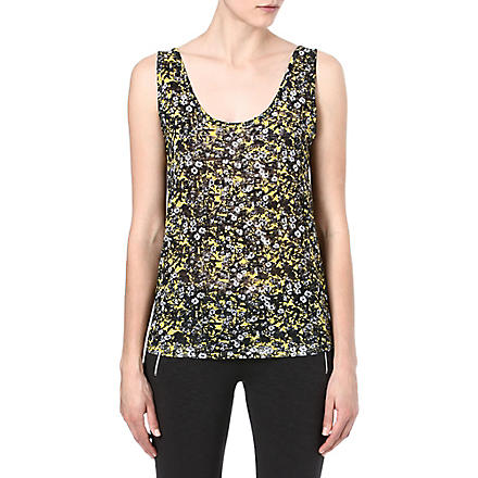 THE KOOPLES SPORT Graphic floral-print top (Yellow