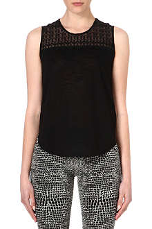 THE KOOPLES Skull head vintage-lace vest top