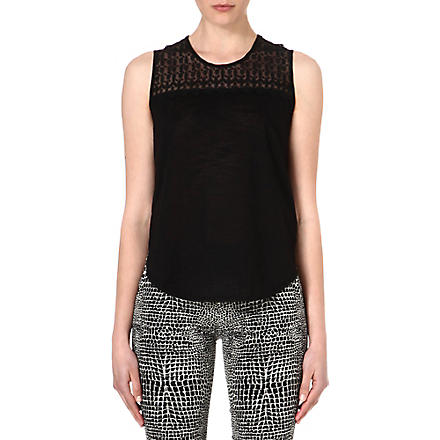 THE KOOPLES Skull head vintage-lace vest top (Black