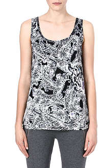 THE KOOPLES SPORT Tiger-print jersey vest