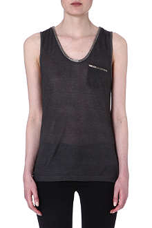 THE KOOPLES Vest top with metal trim
