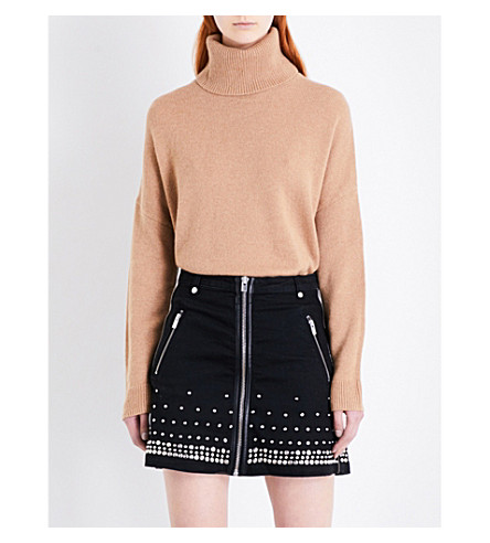 THE KOOPLES Nola stretch-denim skirt (Bla55