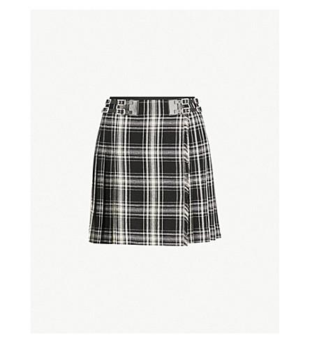 THE KOOPLES Checked woven mini skirt (Bla06