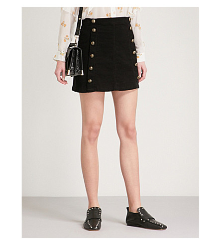 THE KOOPLES Button-detail corduroy skirt (Bla01