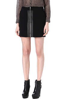 THE KOOPLES SPORT Leather-panel zip skirt