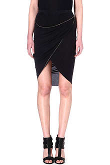 THE KOOPLES Draped asymmetric skirt
