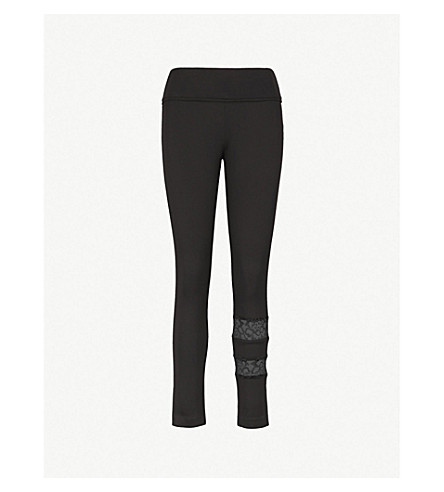 THE KOOPLES Lace-detail mid-rise leggings (Bla01