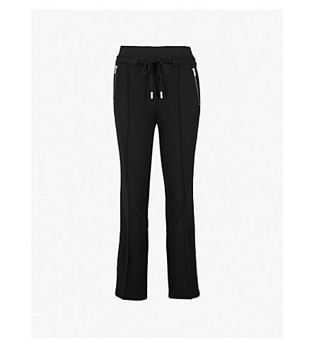 THE KOOPLES Diamanté条纹平纹针织面料裤子 (Bla01