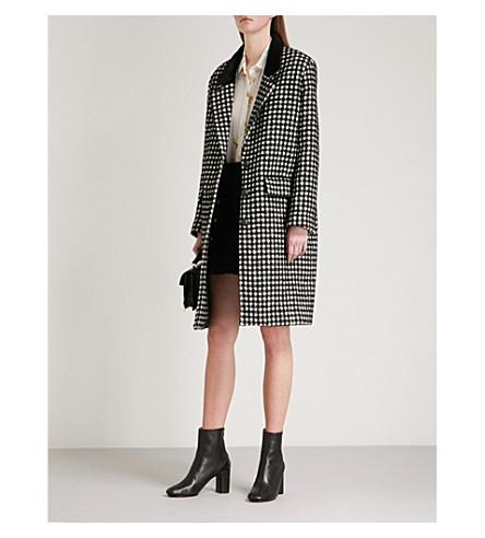 THE KOOPLES Checked wool-blend coat (Bla06