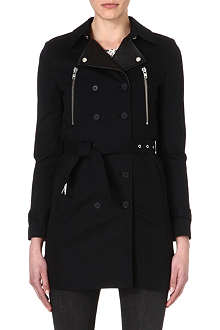 THE KOOPLES Leather-detailed trench coat