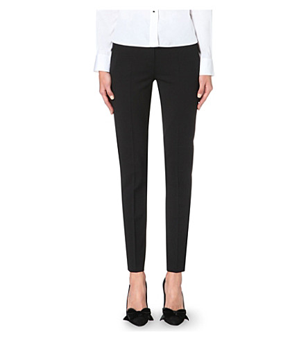 THE KOOPLES Tapered stretch-wool trousers (Bla01