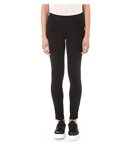 THE KOOPLES Mesh-detail stretch-jersey leggings (Black