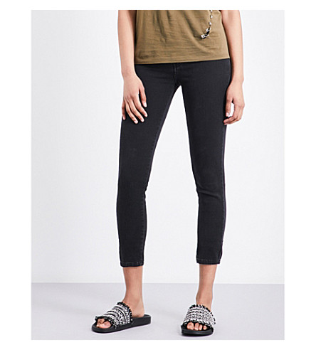 THE KOOPLES Franky cropped skinny mid-rise jeans (Ant04