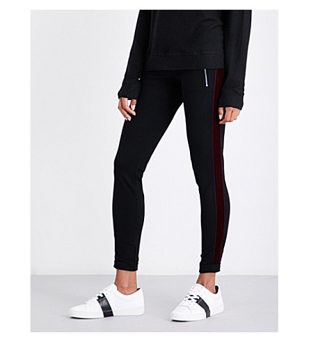 THE KOOPLES Velvet-trim jersey jogging bottoms (Bla01