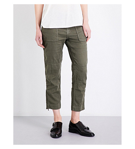 THE KOOPLES Betty linen-blend trousers (Kak11